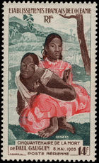French Polynesia 1953 Gaugin unmounted mint.
