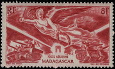Madagascar 1946 Victory lightly mounted mint.