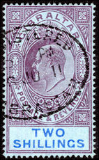 Gibraltar 1906-11 2s purple and bright blue on blue fine used.