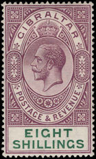 Gibraltar 1912-24 8s dull purple and green lightly mounted mint.