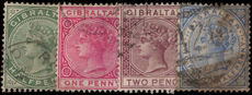 Gibraltar 1886-87 set to2½d fine used.