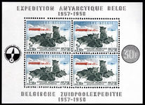 Belgium 1957 Belgian Antarctic Expedition souvenir sheet unmounted mint.