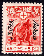 Spain 1938 Red Cross surcharge lightly mounted mint.