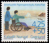Greenland 1996 Disabled Society unmounted mint.
