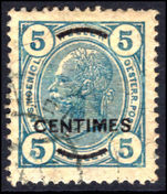 Post Office in Turkey 1904-05 5c perf 13x13½ fine used.