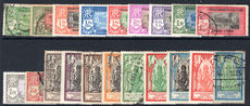 French Indian settlements 1929 new currency set (one of two lightly mounted fine used.