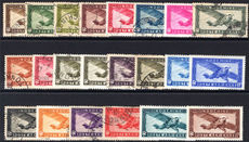 Indo-China 1933-49 set mixed fine used and mint (16c, 39c, 67c, 69c, 20s & 30s lightly mounted mint).