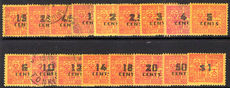 Indo-China 1931-41 Postage Due set mixed mint and used (2c 2½c 3c 5c 6c 14c to $1 lightly mounted mint).