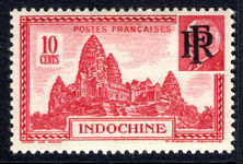 Indo-China 1946 Unissued 10c RF overprint lightly mounted mint.