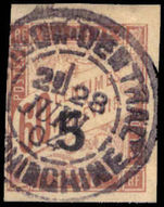 Indo-China 1904 5 on 60c postage due fine used.