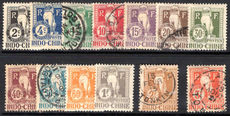 Indo-China 1908 Postage Due set mixed mint and used (2c 4c 15c 30c 60c 1f lightly mounted mint).