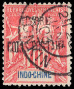 Indo-China 1899-1902 10c rose-red Parcel Post fine used.
