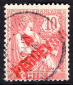 French PO's in China 1903 10c postage due fine used (signed Brun).