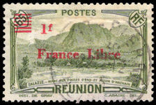 Reunion 1943 1f France Libre provisional fine used.