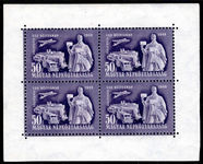 Hungary 1949 Stamp Day sheet of 4 unmounted mint.