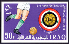 Iraq 1966 Arab Football Cup souvenir sheet unmounted mint.