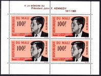 Mali 1963 Kennedy souvenir sheet unmounted mint.