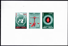 Paraguay 1960 Human Rights air imperf souvenir sheet unmounted mint.