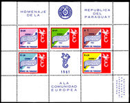 Paraguay 1961 Europa perf souvenir sheet unmounted mint. (wrinkled).