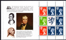 Scotland £5 The Scots Connection unmounted mint booklet pane.