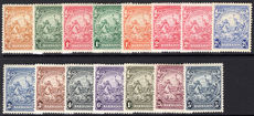 Barbados 1938-47 set (missing 8d) lightly mounted mint.