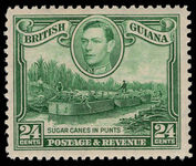 British Guiana 1938-52 24c watermark upright lightly mounted mint.