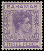 Bahamas 1938-52 3d violet lightly mounted mint.