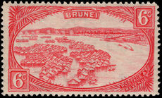 Brunei 1924-37 6c scarlet lightly mounted mint.