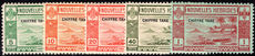 French New Hebrides 1938 Postage Due set lightly mounted mint.