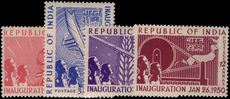 India 1950 Inauguration of Republic lightly mounted mint.