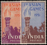 India 1951 Asian Games set lightly mounted mint.