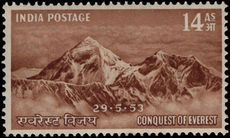 India 1953 14a Conquest of Everest lightly mounted mint.