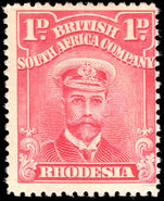 Rhodesia 1922-24 1d bright rose-scarlet lightly mounted mint.