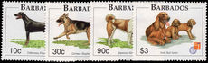 Barbados 1997 Dogs unmounted mint.