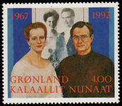 Greenland 1992 Silver Wedding unmounted mint.