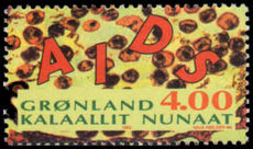 Greenland 1993 Aids unmounted mint.