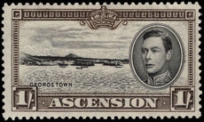 Ascension 1938-53 1s perf 13½ lightly mounted mint.