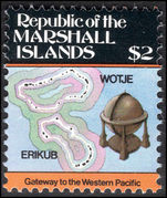 Marshall Islands 1984-87 $2 Wotje and Erikub Atolls unmounted mint.