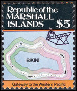 Marshall Islands 1984-87 $5 Bikini Atoll unmounted mint.