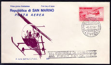 San Marino 1961 Helicopter fine first day cover.