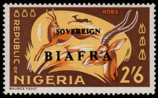 Biafra 1968 2s6d Kobs red overprint omitted unmounted mint.