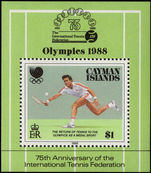 Cayman Islands 1988 Olympics souvenir sheet unmounted mint.