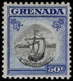 Grenada 1953-59 50c unmounted mint.