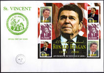 St Vincent 2004 Ronald Reagan first day cover.
