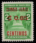 Costa Rica 1962 85c on 2c unmounted mint.