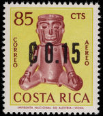Costa Rica 1964 15c on 85c air unmounted mint.