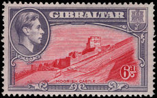Gibraltar 1938-51 6d perf 14 unmounted mint.