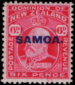 Samoa 1914-15 6d perf 14x13½ lightly mounted mint.