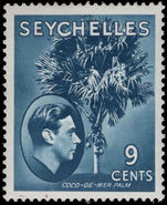 Seychelles 1938-49 9c grey-blue chalky paper lightly mounted mint.