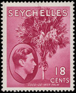 Seychelles 1938-49 18c carmine-lake ordinary paper lightly mounted mint.